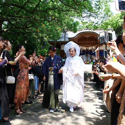 マーキーズ ウェディング プラン 【和婚挙式のみプラン】 由緒ある諏訪神社で本格挙式をプロデュース